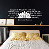 Wall decals quotes buddha quote all that we are buddha quote yoga wall decals quotes buddha quote the secret of health buddha quote yoga lotus flower vinyl sticker mightylinksfo