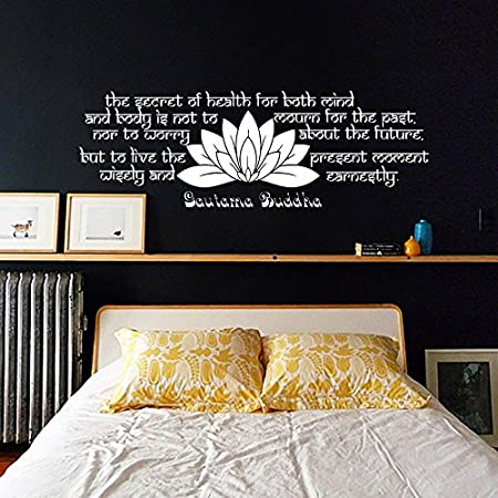 Wall decals quotes buddha quote the secret of health buddha quote wall decals quotes buddha quote the secret of health buddha quote yoga lotus flower vinyl sticker mightylinksfo