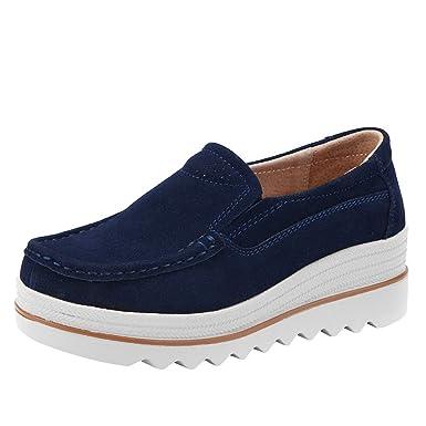 d1232f365d2 Moonuy Femmes Chaussures à Lacets Chic Derbies en Cuir Tendance Chaussures  Oxford Finition Métallisée Chaussures de