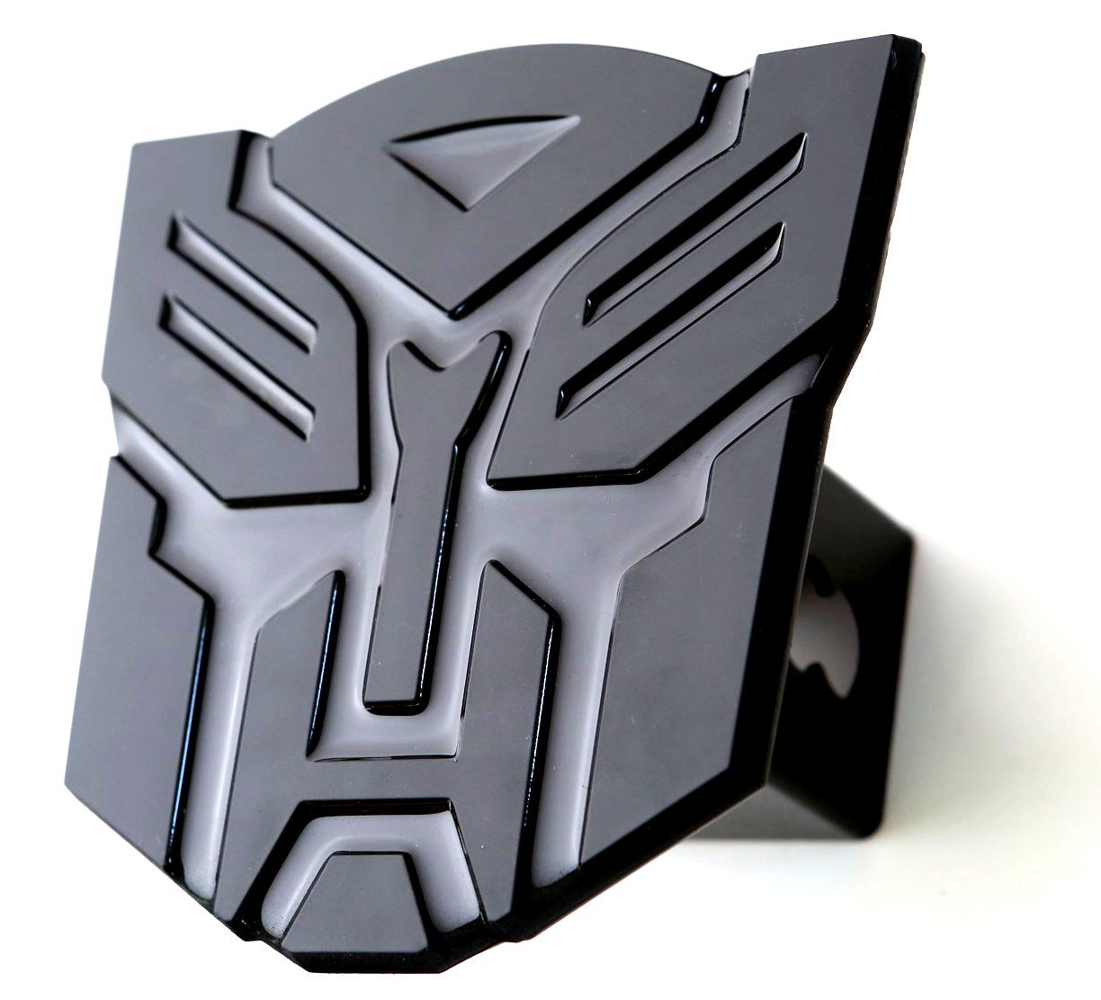 5'' Transformer Autobot Black 3d Logo Trailer Metal Hitch Cover Fits 2' Receivers bparts HBL2354