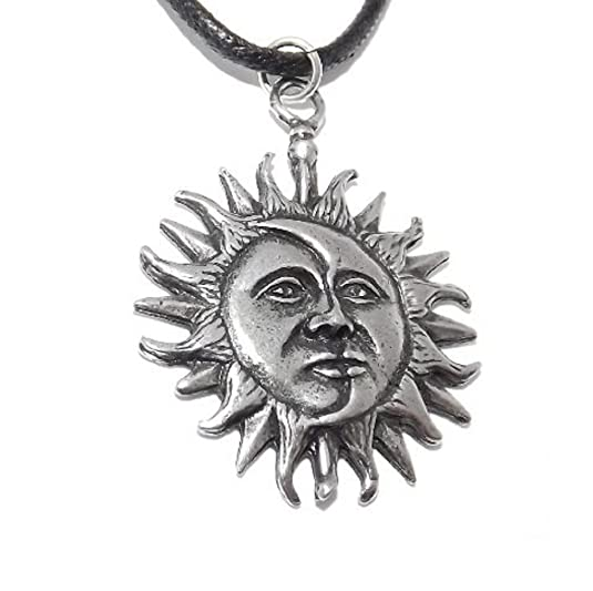 Sun and moon eclipse pagan pendant necklace amazon jewellery aloadofball Image collections