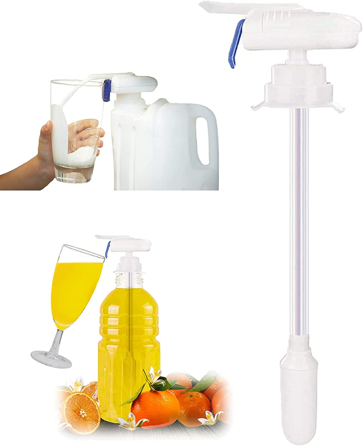 Automatic Drink Dispenser Water Dispenser Electric Tap Spill Proof Beverage Tap Drinks Suck Tools for Party Fruit Juice Beer Outdoor Kitchen 1 Pack