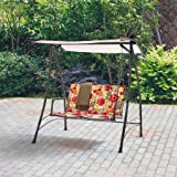 Outdoor Swing Lounge Big and Tall 2-seat Swing Fade-resistant Print Floral Review