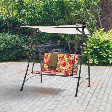 Outdoor 2-Person Padded Swing, Floral by Mainstay
