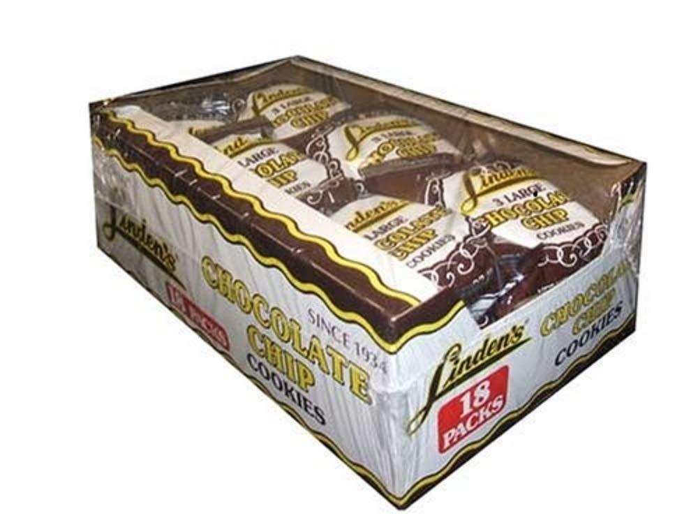 Linden's Chocolate Chip Cookies, 3 Cookies Per Pack 18-1.75 oz. Packs Per Box
