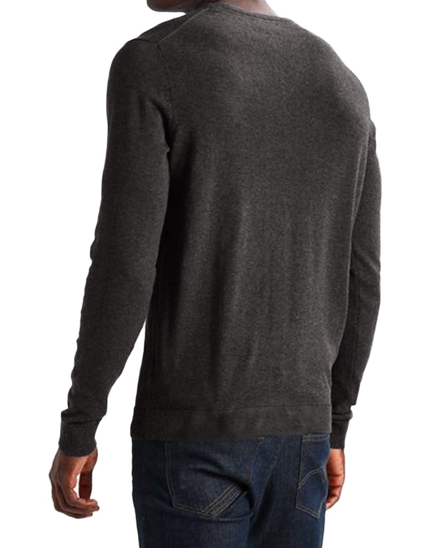 a953aea5d72 MODCHOK Pull Homme T-Shirt à Manche Longue Col V Top Tee Coton Couleur Unie