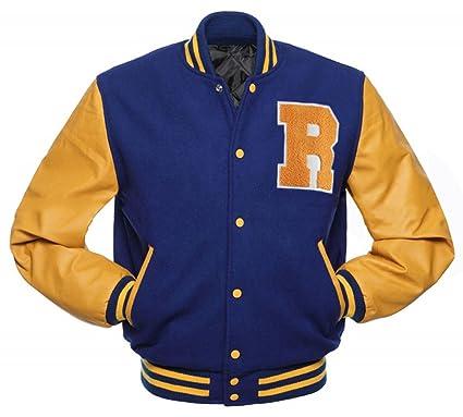 Fashion First Riverdale Archie Andrews KJ APA Varsity Letterman R Bomber  Leather Jacket  Amazon.co.uk  Clothing a1277b41e