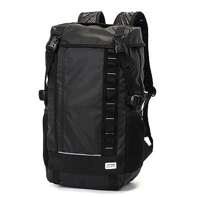 9da4546013d3 SWISSWIN SW222681 リュック メンズ スクエアリュック リュックサック バックパック ビジネスリュック バッグ デイパック (ブラック