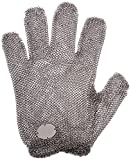 meat cutter gloves - Tucker Safety CM030003 Products  Tucker Whizard Metal Mesh Glove, 100% Stainless Steel, Double Interlocked Metal Mesh, Patented Self-Adjusting Tension Wrist, Medium, Each, Silver
