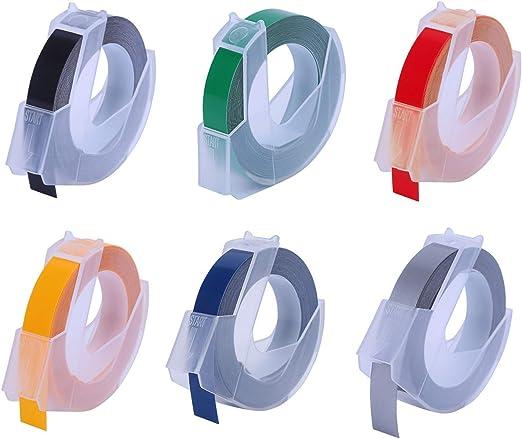 Migaven 6 rollos Etiquetas Dymo de Reemplazo 3D Etiquetas de ...