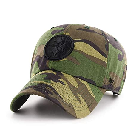 869f92c29996a Amazon.com    47 Pittsburgh Steelers NFL Unwashed Camo Clean UP Cap  Adjustable Hat   OSFM   Sports   Outdoors