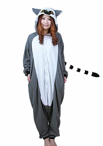 Honeystore nuevo Unisex pijama Anime Cute gris Mono traje de Cosplay pijama