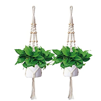 Amazon Com Hanging Plant Holders Outdoor Indoor Plant Hangers