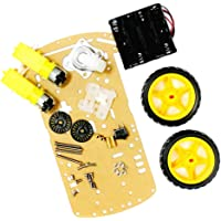 HOMYL 2WD Smart Motor Robot Car Chassis Kit with Speed Encoder Wheels and Battery Box for Arduino