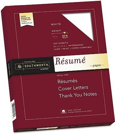 amazon com southworth rd18icf 100 cotton resume paper 32lb 8