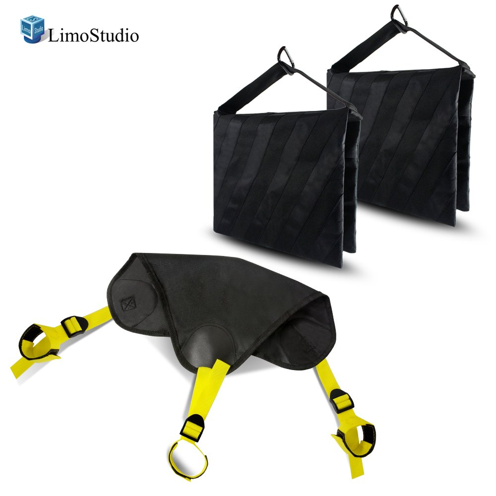 LimoStudio Black Heavy Duty Photographic Studio Video Sand Bag, Counter Weight Bag for Universal Light Stand for Boom Stand and Tripod, AGG2623