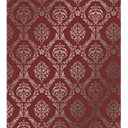 "Large Wall Damask Stencil Faux Mural Design #1007 13""x14 4/8"""