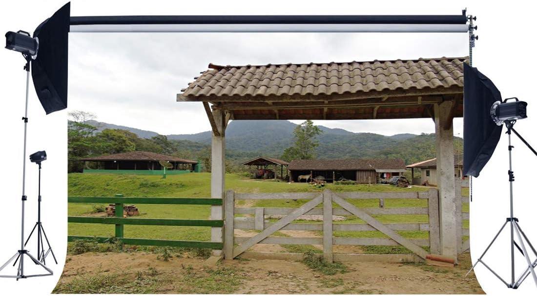 Sunny Star - Fondo de vinilo con diseño de granja rural, 1,8 x 1,5 ...