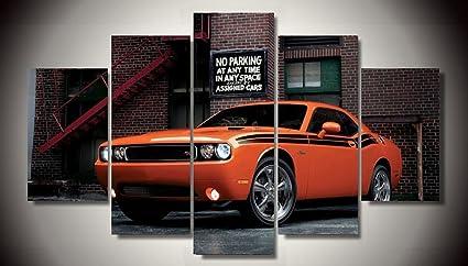 Amazon Com Orange Challenger Hellcat Muscle Classic Racing Sport