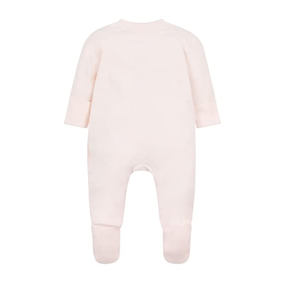 Neugeboren Mothercare Baby-M/ädchen Formender Body Velour Embellished All in One Pale Pink Pink