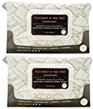 Cleansing Tea Tree Oil - Live Green - 2 Pack (60 Count Each) Coconut and Tea Tree Oil Cleansing Wipes