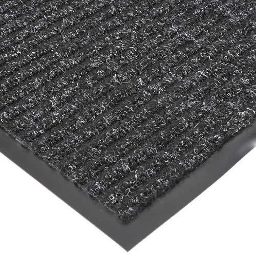 NoTrax T39 Bristol Ridge Scraper Carpet Mat, for Wet and Dry Areas, 4' Width x 20' Length x 3/8'' Thickness, Midnight by NoTrax