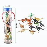 12pcs Assorted Dinosaur Models Playset Toy