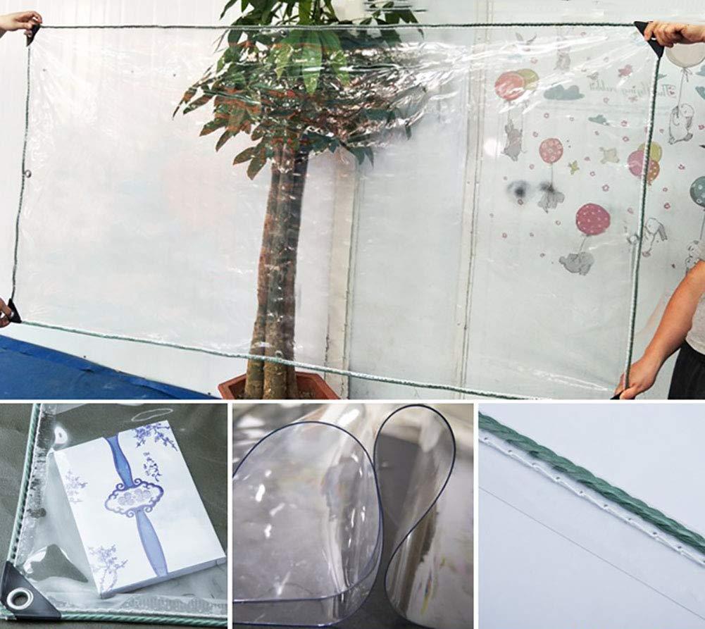 transparenter Isolierfilm 300g // m/², 500g // m/² Farbe : Dick, gr/ö/ße : 2/×2M Anti-Aging-Trapaulin schwere Markise Abdeckplanen Transparente wasserdichte Plane mit /Ösen