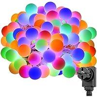 Le 10m bola guirnalda de 100ledes, 8Luz con atención Función, RGB, ideal para Navidad iluminación exterior, balcón, Fiesta, Interior, etc.