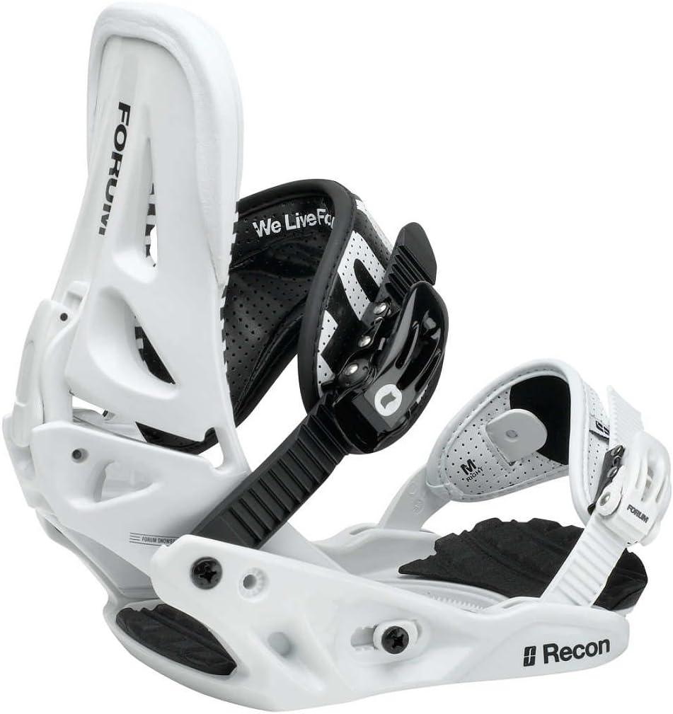 Fijaciones para tabla de Snowboard Forum 12/13 Recon blanco white ...
