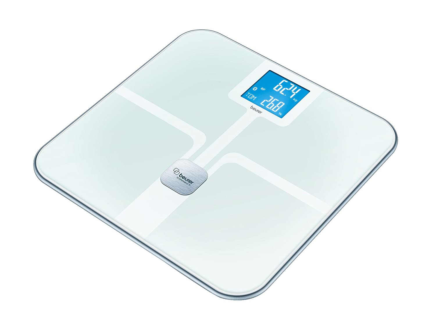 Beurer BF 800 White Diagnostic Bathroom Scales with Bluetooth Smart and Health Manager 748.23 74823 4