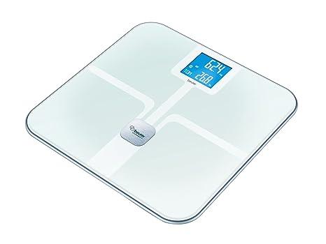 Beurer BF 800 - Báscula de baño diagnóstica Bluetooth, compatible con App en español Health