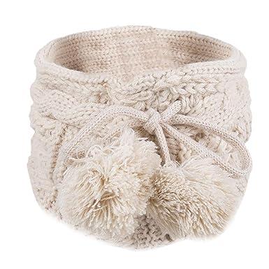 4e8c9b580c37 KaloryWee écharpe Unisexe Accessoire Fashion Châle Hiver Extérieur Coton  Doux Cercle Capot Snood Chaud Tricot Cachemire