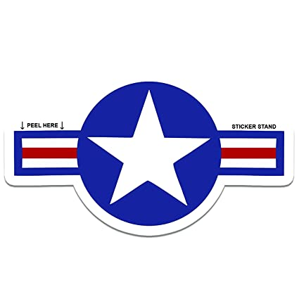 Roundel star sticker us air force usaf insignia car decal 6