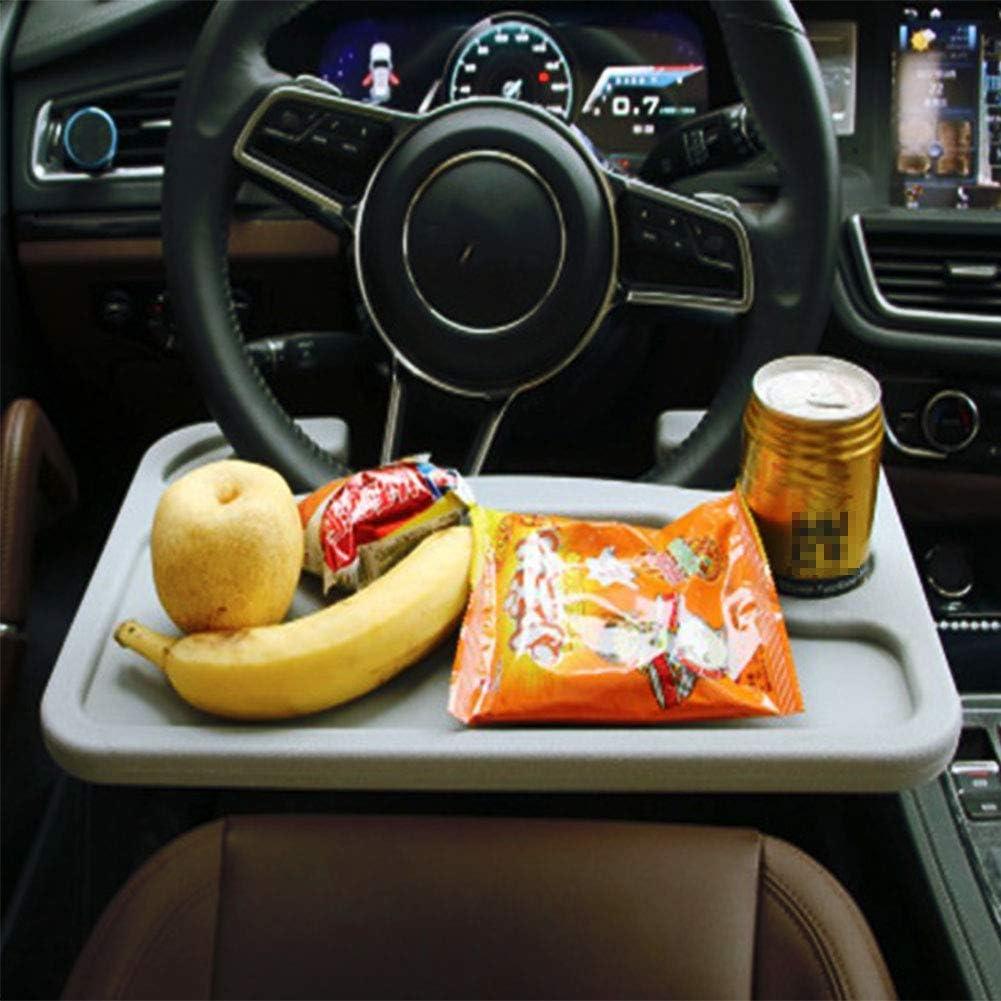 Car Table Steering Wheel Compartment Vehicle Notebook Laptop Food Desk Seat Car Food Food Compartment Portable Tripod Suitable For Most Vehicles Steering Wheels 1 Pack Auto