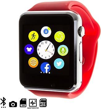 DAM - G08 Smartwatch Red. Cámara integrada. Acepta SIM y micro sd ...