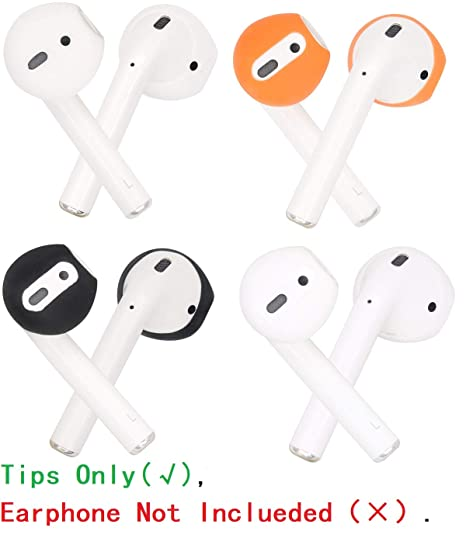 promo code bf7ed b8414 JNSA [Fit in The Case] Ear Tips Covers Gels Buds for AirPods, AirPod Cover  Earbuds Eartips Tips 4 Color 4 Pairs Set, Super Thin Soft Silicone, Support  ...