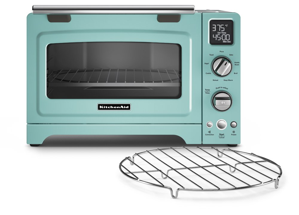kitchenaid toaster blue. amazon.com: kitchenaid kco275aq convection 1800-watt digital countertop oven, 12-inch, aqua sky: kitchen \u0026 dining kitchenaid toaster blue i