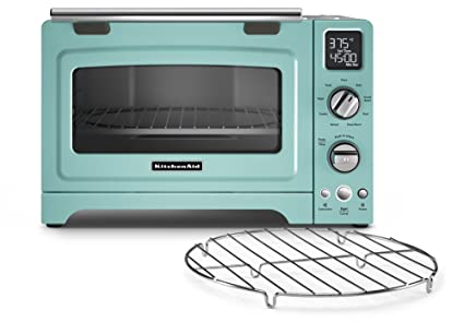 KitchenAid KCO275AQ Convection 1800 Watt Digital Countertop Oven, 12 Inch,  Aqua Sky