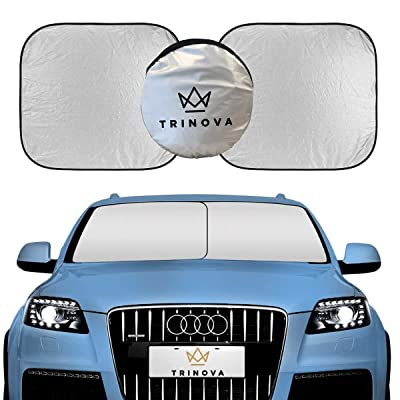 TriNova Car Sun Shade Windshield, Sunshade Cover Maximum UV Protection, Universal fit Easy Storage: Automotive