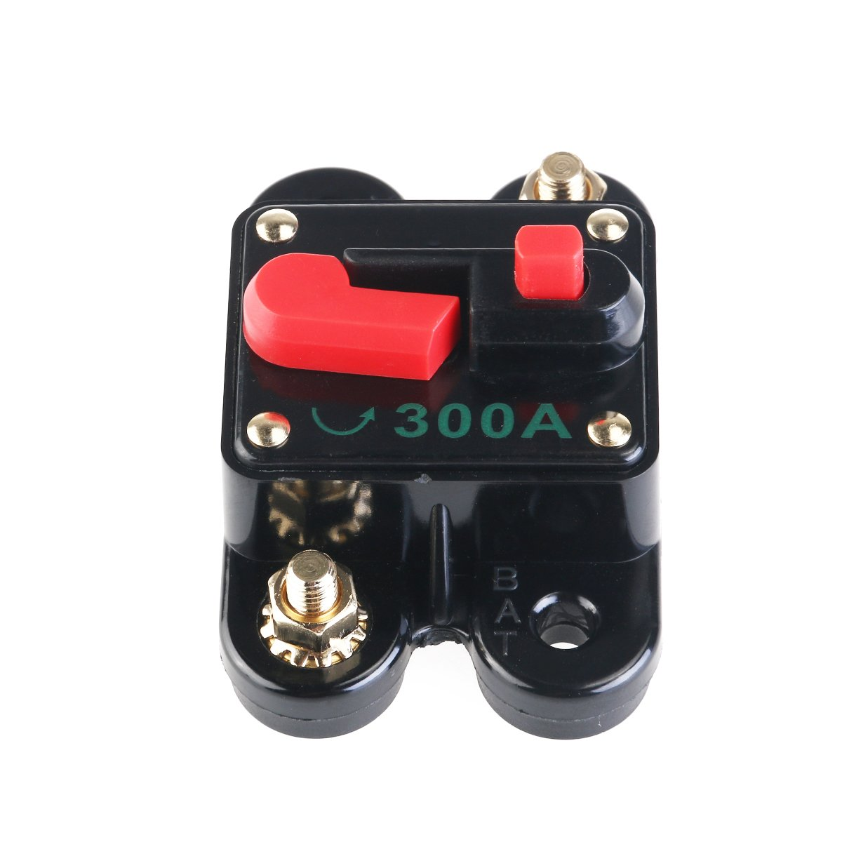 Winomo 12v 24v Inline Auto Waterproof Circuit Breaker 300 Amp Manual Car Audio Replace Fuse For Dc Reset Switch