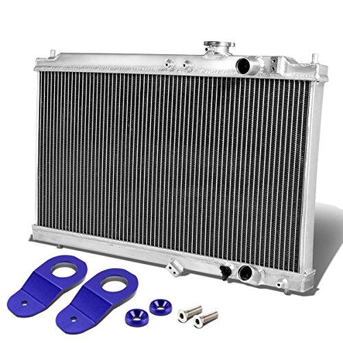 For Acura Integra DB DC Manual Transmission 2-Row Dual Core Aluminum Radiator w/Stay Mount Brackets (Blue) (Core Aluminum Dual Radiator)