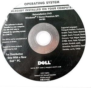 Dell Windows 7 Home Premium SP1 64-bit Reinstallation DVD 9M8VY