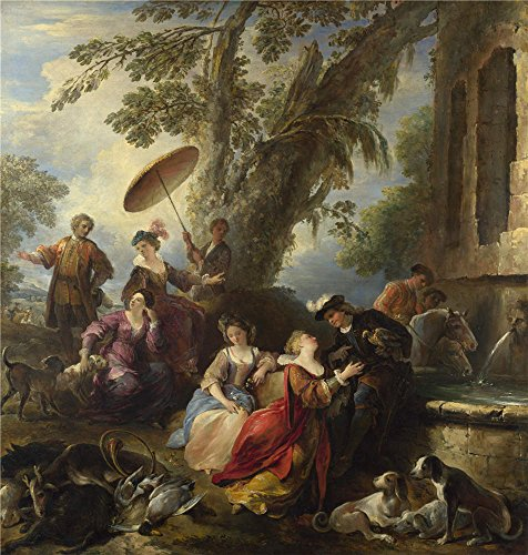 ['Joseph Parrocel The Return From The Hunt ' Oil Painting, 20 X 21 Inch / 51 X 53 Cm ,printed On High Quality Polyster Canvas ,this Amazing Art Decorative Canvas Prints Is Perfectly Suitalbe For Home Office Artwork And Home Decor And Gifts] (Joseph From The Bible Costume)