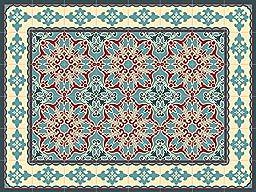 Oriental 60x80cm Mat Tile Rug Carpet PVC Vinyl Floor Kitchen Salon Decoration TM-225