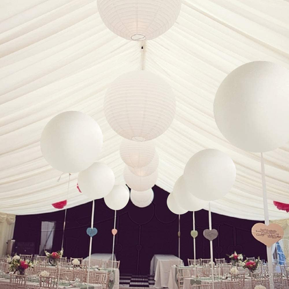 CEDAR BRIGHT 36 Inch Latex Round Clear Balloons 6pcs Clear ,Giant Balloons for Photo Shoot//Birthday//WeddingParty//Festivals//Event Decorations Premium Helium Quality