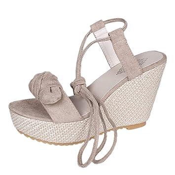 89372d040cf LILICAT✈✈ Sandalias de cuña de Mujer Casuales de Verano Zapatos Fiesta  Sandalias de Vestir