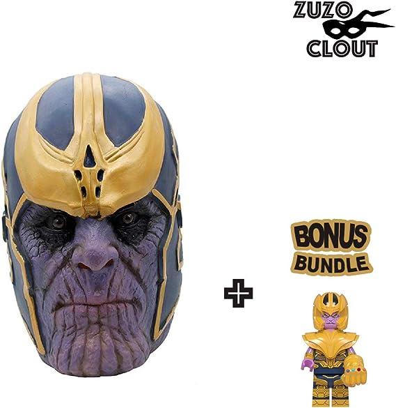 ZuzuClout – Unisex Thanos Máscara de látex casco para Halloween ...