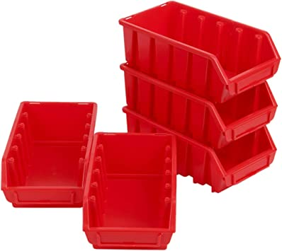 5 cajas rojas de tornillos pequeñas, cajas de almacenamiento ...