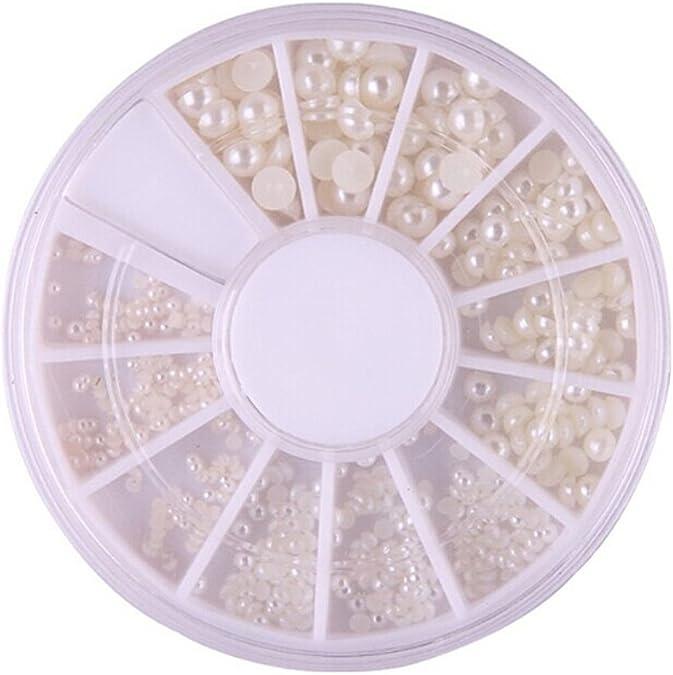 ROSENICE Scatola mista taglie piatte dietro perle cabochon 2 mm Beige 3 mm 200 pezzi